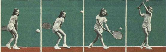 Скорее всего у этой девчушки удар слева станет коронным игровым оружием